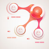 Abstrakcjonistyczny szablon infographic Zdjęcie Stock