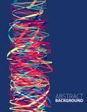 Abstrakcjonistyczny szablon z wibrującą kolumną 10 tło projekta eps techniki wektor Obrazy Royalty Free