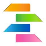 Abstrakcjonistyczny szablonu sztandar, Wektorowa praca Obraz Stock