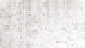 Abstrakcjonistyczny szarego bielu tło z siatką kwadraty mozaika Obrazy Royalty Free