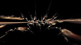 Abstrakcjonistyczny szarość dym na czerni zbiory wideo