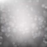 Abstrakcjonistyczny szary kółkowy bokeh tło zdjęcie stock