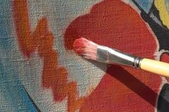 abstrakcjonistyczny szczotkarski rysunek Fotografia Stock