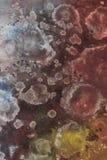 abstrakcjonistyczny szczotkarski stubarwny obraz Zdjęcie Stock