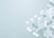 Abstrakcjonistyczny sześciokąta tło z przestrzenią dla twój teksta Zdjęcie Stock