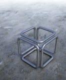 abstrakcjonistyczny sześcian Zdjęcie Royalty Free