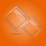 Abstrakcjonistyczny szklany panel z kopii przestrzenią Obraz Royalty Free