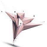 Abstrakcjonistyczny szpotawy wektorowy asymetryczny przedmiot z linii siatki isola ilustracja wektor