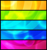 abstrakcjonistyczny sztandarów pięć setu wektor Fotografia Stock