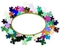 Abstrakcjonistyczny sztandar z łamigłówka kawałkami Obraz Royalty Free