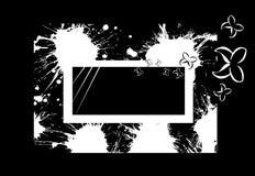 Abstrakcjonistyczny sztandar z motylami Zdjęcia Stock