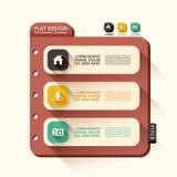 Abstrakcjonistyczny sztandaru infographics Zdjęcie Stock