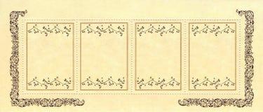 abstrakcjonistyczny sztandaru kwiatu papieru kolor żółty Fotografia Royalty Free