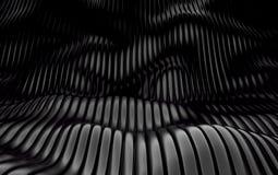 Abstrakcjonistyczny szyk shinny czarnych wieloboki 3 d czynią ilustracji
