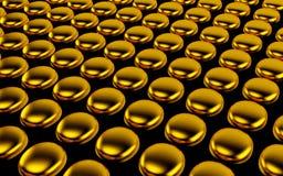Abstrakcjonistyczny szyk shinny złocistych wieloboki 3 d czynią ilustracji