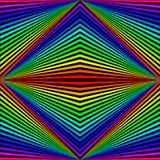 Abstrakcjonistyczny tło w postaci barwionych rhombuses i promieni układających diagonally ilustracji