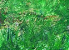 Abstrakcjonistyczny tło zielony kolor z plamami i narysami fotografia royalty free