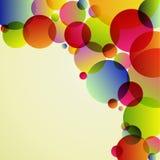 Abstrakcjonistyczny kolorowy okręgu tło Zdjęcie Stock