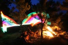 Abstrakcjonistyczny tęcza ruchu plamy światło zdjęcie stock