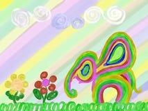 Abstrakcjonistyczny tęcza słoń, lato i Zdjęcie Royalty Free