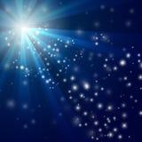 abstrakcjonistyczny tła błękit światła wektor Obrazy Royalty Free