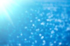 abstrakcjonistyczny tła błękit bokeh Zdjęcie Royalty Free