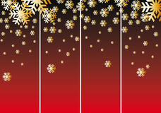 abstrakcjonistyczny tła bożych narodzeń czerwieni śniegu wektor Fotografia Stock