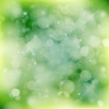 abstrakcjonistyczny tła bokeh zieleni ilustraci światła wektor Ilustracja Wektor