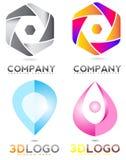 abstrakcjonistyczny tła czerń firmy elementu logo Zdjęcie Royalty Free