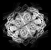 abstrakcjonistyczny tła czerń koronki wzoru biel Zdjęcie Royalty Free