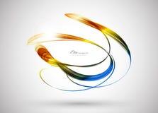 abstrakcjonistyczny tła koloru szablon ilustracja wektor