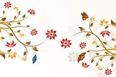 abstrakcjonistyczny tła kwiatu wektor ilustracji