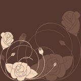 abstrakcjonistyczny tła kwiatu wzór wzrastał Obrazy Stock