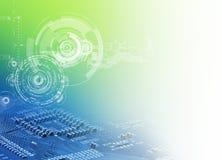 abstrakcjonistyczny tła projekt wyszczególniający hd światła deseniują bogato technologię Obraz Stock