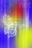 abstrakcjonistyczny tła projekt wyszczególniający hd światła deseniują bogato technologię Obrazy Stock