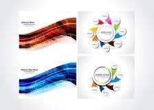 Abstrakcjonistyczny tła & sieci sztandaru set Obrazy Royalty Free