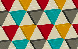 Abstrakcjonistyczny tła składać się z trójboki Obraz Stock
