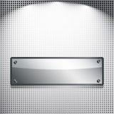 abstrakcjonistyczny tła sztandaru metal Fotografia Stock