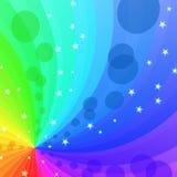 abstrakcjonistyczny tła tęczy target2134_0_ royalty ilustracja