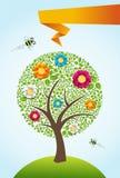 abstrakcjonistyczny tła wiosna czas drzewo ilustracja wektor