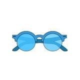 abstrakcjonistyczny tła wizerunku wektor Ikony lata okulary przeciwsłoneczni Zdjęcia Royalty Free