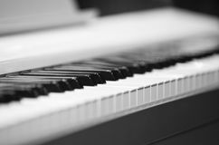 abstrakcjonistyczny tła zbliżenia klawiatury pianino Obrazy Royalty Free