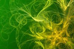 abstrakcjonistyczny tła zieleni kolor żółty Fotografia Royalty Free