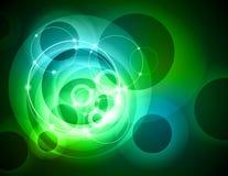 abstrakcjonistyczny tła zieleni pierścionek ilustracja wektor