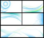 abstrakcjonistyczny tło błękit set Zdjęcie Stock