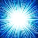 Abstrakcjonistyczny tło błękitnej gwiazdy wybuch Zdjęcia Royalty Free