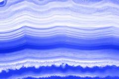 Abstrakcjonistyczny tło - błękitny pasiasty agat Obrazy Royalty Free