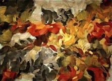 Abstrakcjonistyczny tło barwiona grunge tekstura zamazani farba rozmazy, plamy na textured kanwie i ilustracja wektor