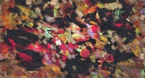 Abstrakcjonistyczny tło barwiona grunge tekstura zamazani farba rozmazy, plamy na textured kanwie i royalty ilustracja