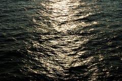 Abstrakcjonistyczny tło - blask księżyca ścieżka w morzu bałtyckim obrazy royalty free